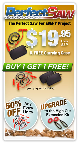 Get the Perfect Saw and Carrying Case for only $19.95 AND FREE BONUS
